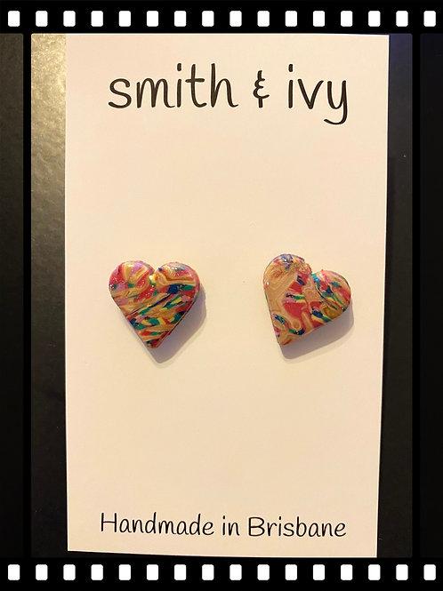 Colour Splash - cream small heart