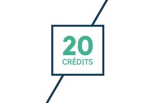 20 crédits