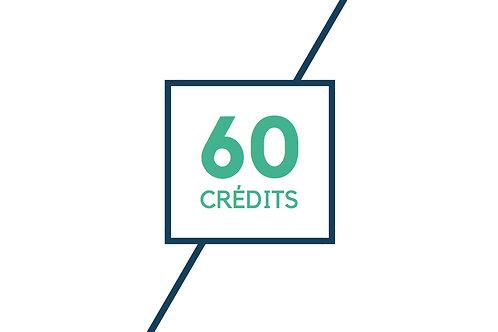 60 crédits