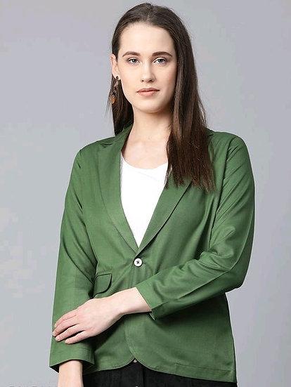 Comely Women's Formal Blazer - Green
