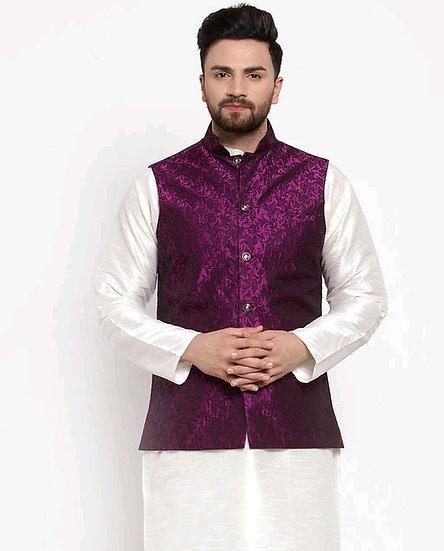 Wonderous Men's Cotton Ethnic Nehru Jacket