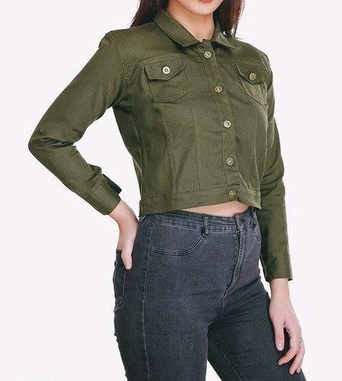 Fascinating Designer Short Women's Jacket - Green
