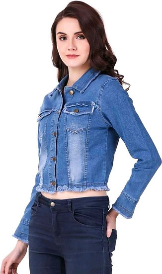 Women's Denim Solid Jackets