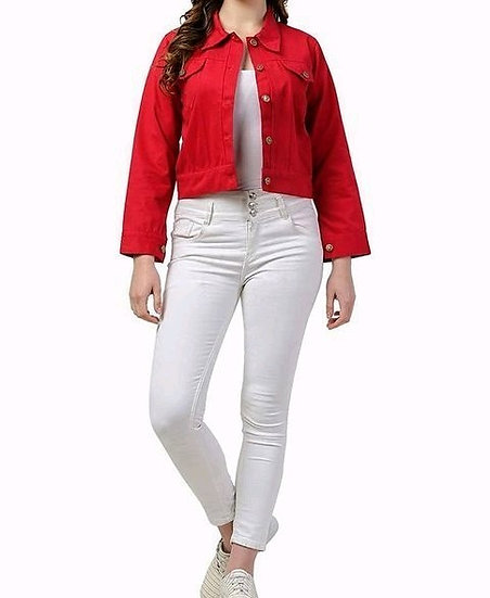 Fascinating Designer Short Women's Jacket - Red