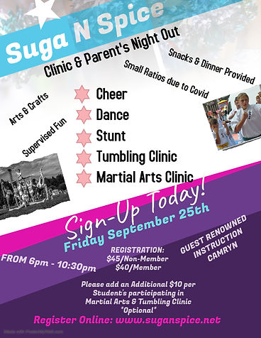 Copy of Cheer Camp Flyer Template - Made
