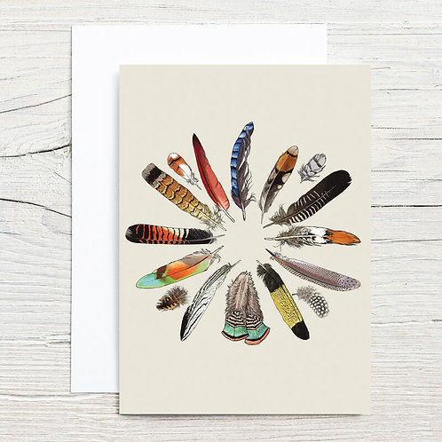 Feather Circle 5x7 Notecard Set (8)