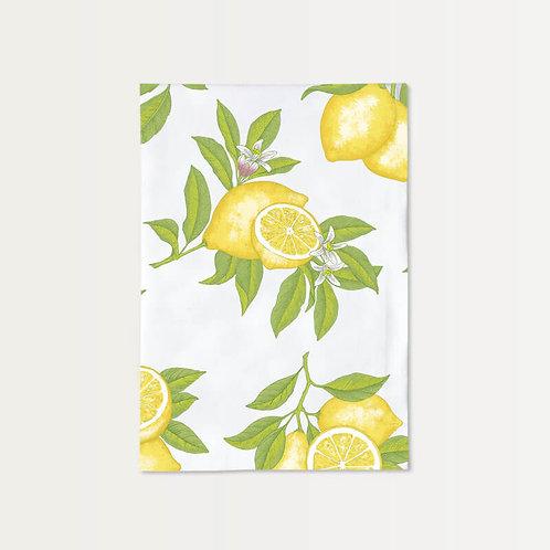 Vintage Lemons Cotton Towel