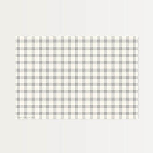 Gray Plaid Paper Placemats