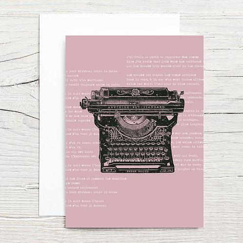 Antique Typewriter 5x7 Notecard Set (8)