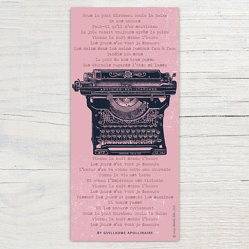 Antique Typewriter Bookmark