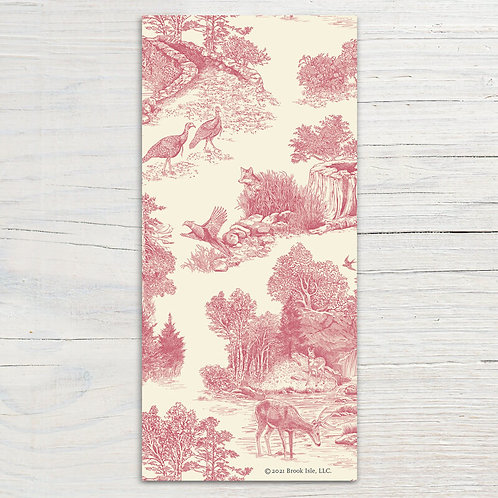 Vintage Pink Toile Bookmark