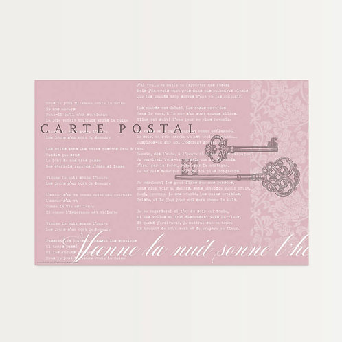 French Postcard Paper Placemats
