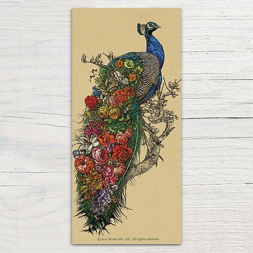 Peacock's Garden Bookmark