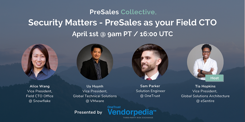 Security Matters - PreSales as your Field CTO