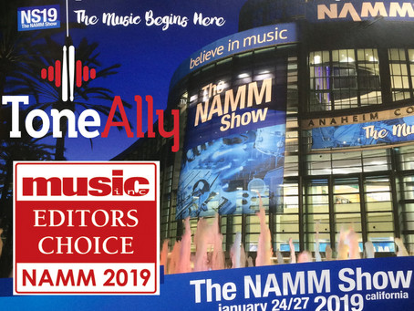ToneAlly gets 3rd Award at NAMM19!