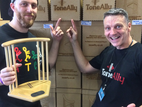 ToneAlly stand UK Drum Show 2017