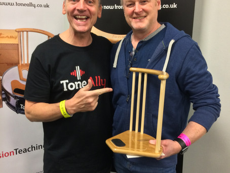 ToneAlly a big hit at the London Drum Show! Day 2