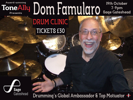 Dom's Gonna Drum Up A Storm In Newcastle!