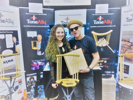 ToneAlly @ NAMM19 Day 1 with Gregg Bissionette!