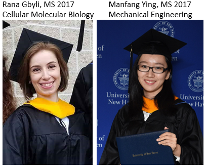 Congratulations to the recent graduates from the Biomaterials and Medical Device Innov. Lab. Good jo