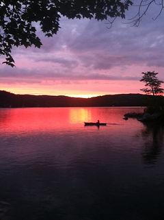 2casey wait  fantastic sunset on Keoka 0