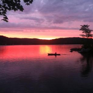 Sunset on Keoka by Casey Wait