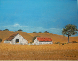 Old Paso Robles homestead: Pastel