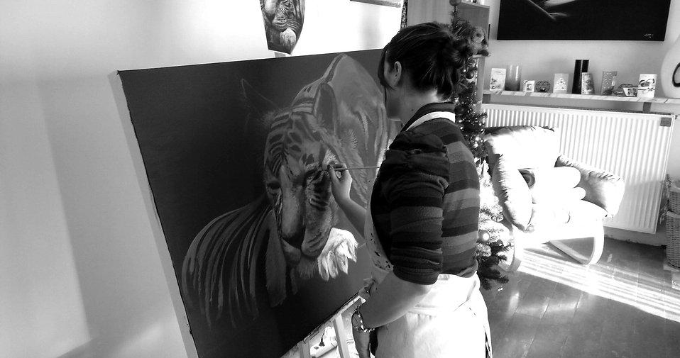 Stephanie Painting in progress