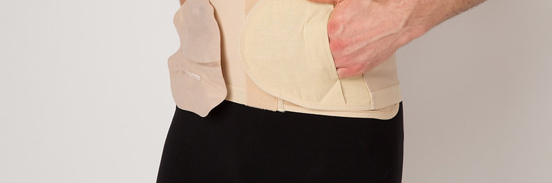 'Adjustable Hole' Hernia Support Belts AR (Anti-Roll)