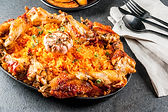 West African national cuisine. Jollof ri