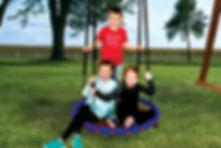 The popular Web Swing fits multiple kids