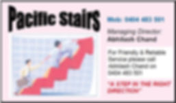 GVLAS Sponsor - Pacific Stairs