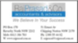GVLAS Sponsor - Raj Prasad & Co Accountants nd dvisors