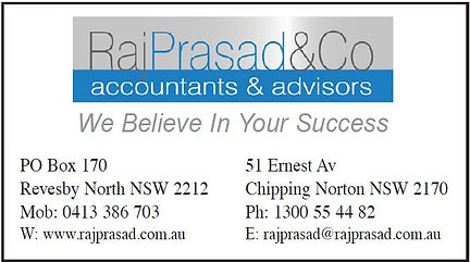 GVLAS Sponsor - Raj Prasad & Co Accountants nd dvisors
