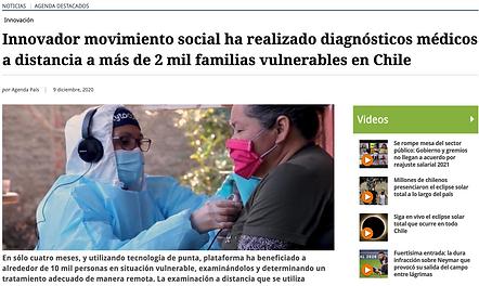 Noticia El Mostrador Telemedicina TytoCare ContagiemosSalud
