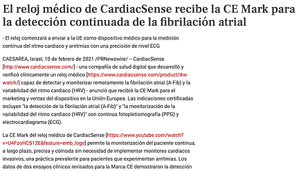 CardiacSense Telemedicina