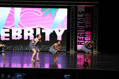 """""""Praying"""" at Celebrity Dance Competition"""