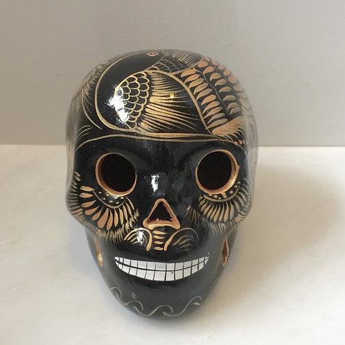 Black & Gold Ceramic Skulls