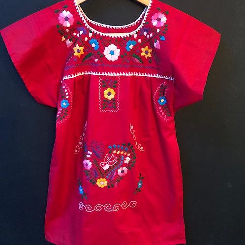 Girls Dress - Red