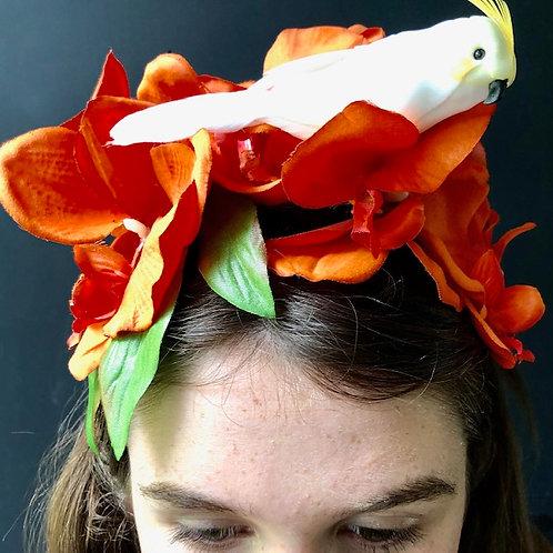Flower Crown - White Parrot