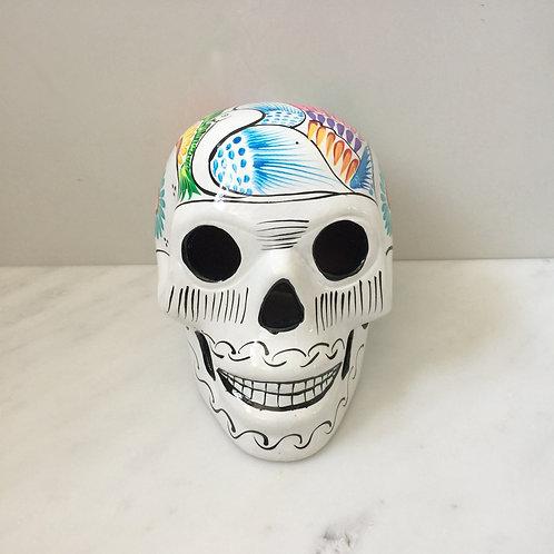 White/Coloured Ceramic Skull