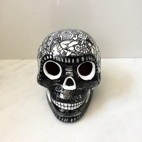 Black Ceramic Skull