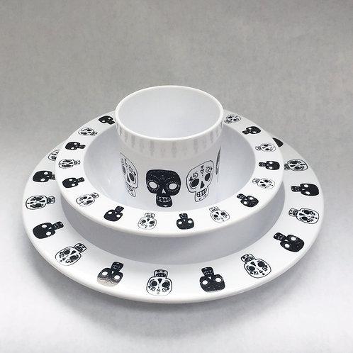 Kids Table Set (skulls / white)