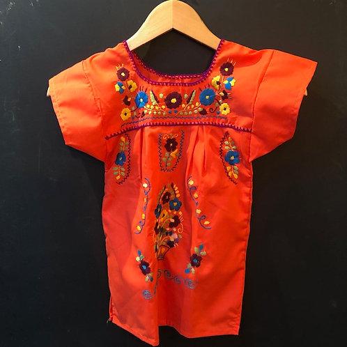 Girls Dress - Orange