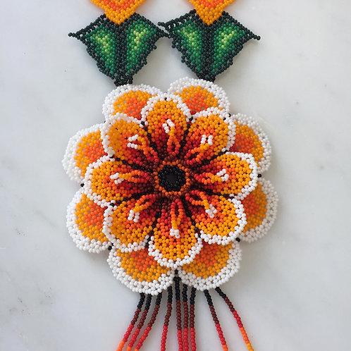 Large Orange Necklace