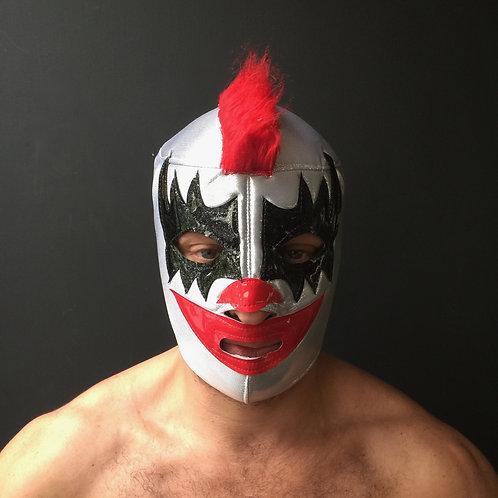 Wrestling Mask - Silver/Black/Red