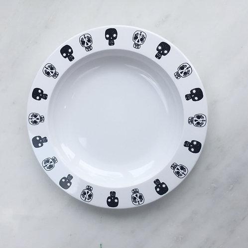 Kids Plate (skulls / white)