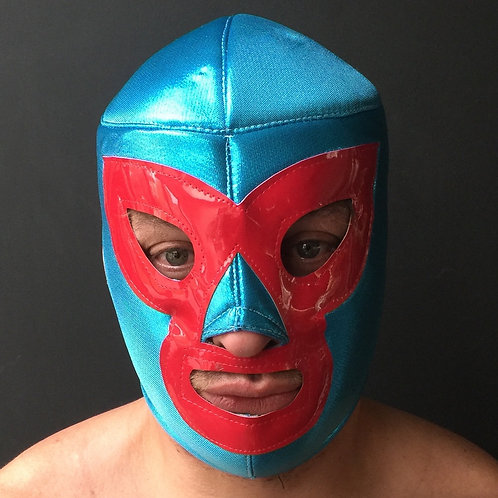 Wrestling Mask - Red/Blue
