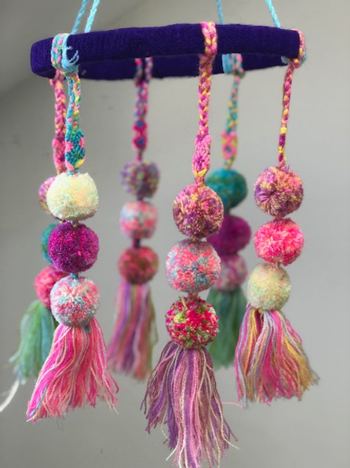 Pom Pom Mobile - Pastel Speckled