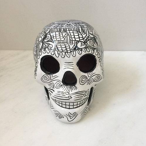 White Ceramic Skull